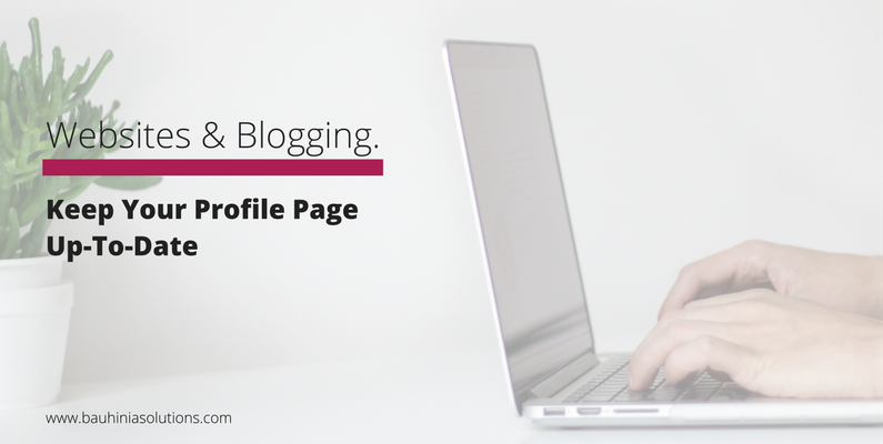 Keep Your Profile Page Up-To-Date