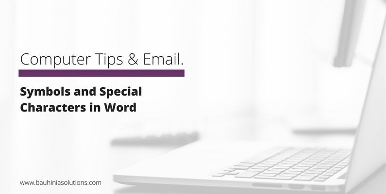 Symbols and Special Characters in Word