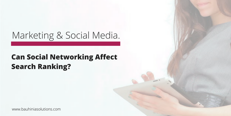 Can Social Networking Affect Search Ranking?