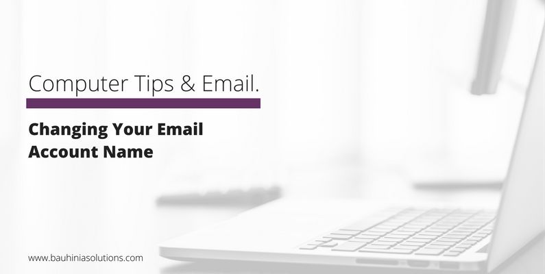 Changing Your Email Account Name