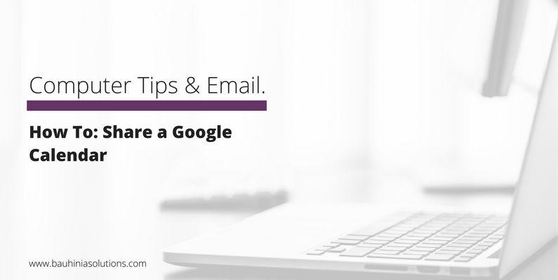 How To: Share a Google Calendar