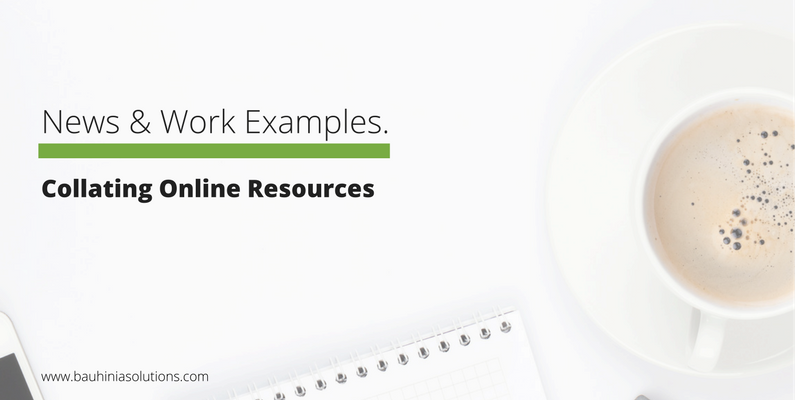 Collating Online Resources