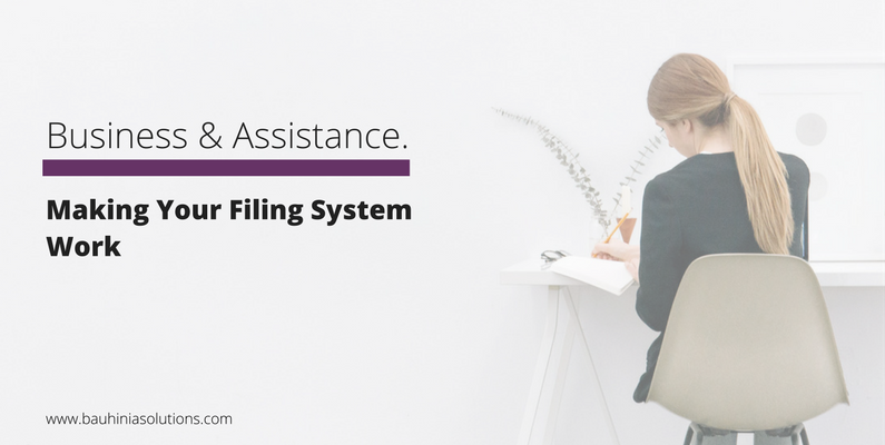 Making Your Filing System Work