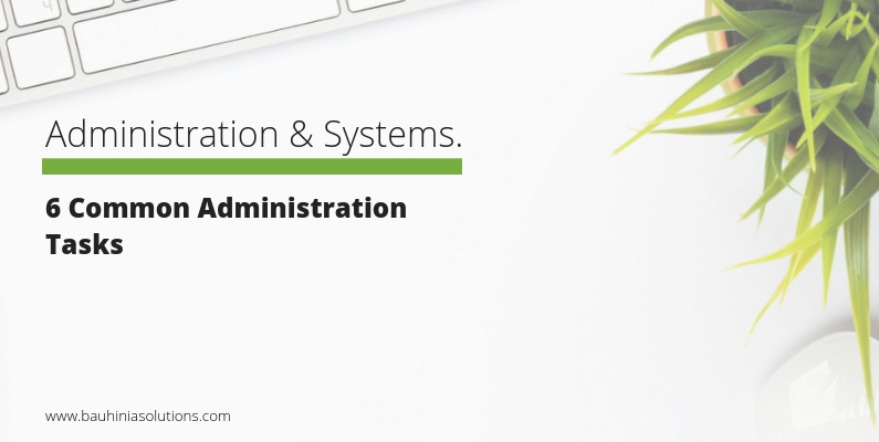 6 Common Administration Tasks