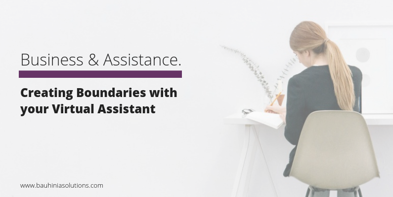 Creating Boundaries with your Virtual Assistant