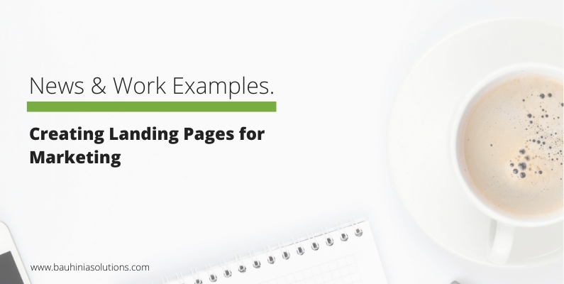 Creating Landing Pages for Marketing
