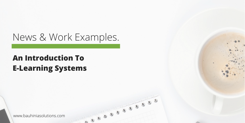 An Introduction To E-Learning Systems